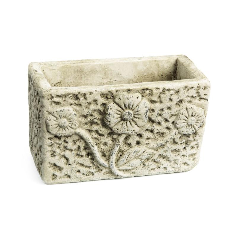 Jardini re en ciment trois fleurs grd floral accessoires pour fleuriste - Jardiniere en ciment ...