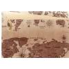 Rouleau de kraft naturel décor Map monde brun